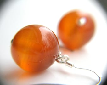 Red Agate Earrings for Courage