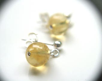 Citrine Earrings Stud for Abundance and Positivity