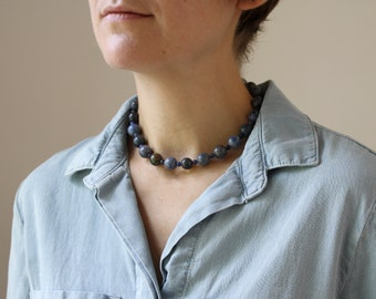 Dumortierite and Sodalite Necklace for Speaking your Truth and Embracing Creativity