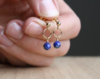 Lapis Lazuli Studs for Sound Judgement and Integrity