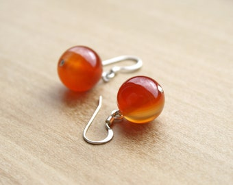 Natural Carnelian Earrings for Courage and Willpower
