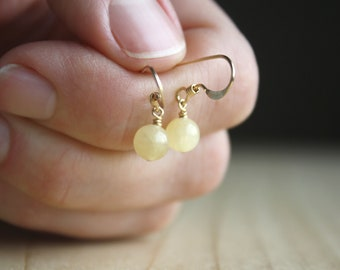 Yellow Calcite Earrings for Release and Calm