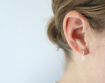 Rose Quartz Stud Earring