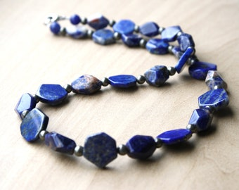 Lapis Lazuli Necklace with Sodalite and Pyrite for Understanding and Personal Protection