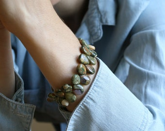 Rhyolite Bracelet for Inner Peace and Acceptance NEW