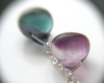 Rainbow Fluorite Necklace . Energy Healing Jewelry