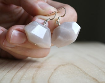 Peach Moonstone Earrings for New Beginnings and Inspiration