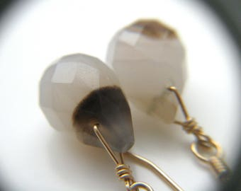 Botswana Agate Earrings for Stability and Balance