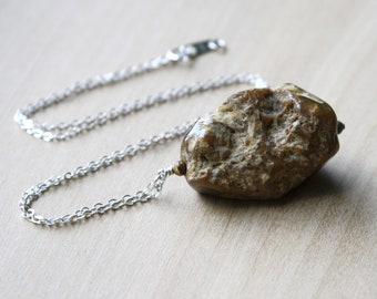 Petrified Wood Necklace for Safety and Protection