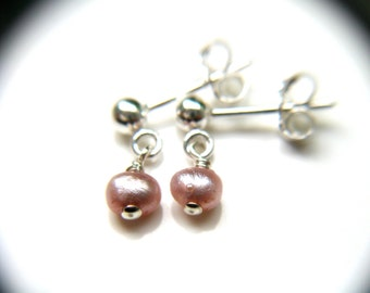 Pink Freshwater Pearl Studs