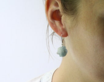 Raw Kyanite Earrings in Sterling Silver . Meditation Stones
