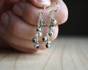 Dalmatian Stone Earrings for Joy and Freedom