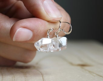 Clear Quartz Crystal Earrings for Harmony and Calm