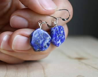 Lapis Lazuli Stud Earrings for Solid Judgement and Understanding NEW