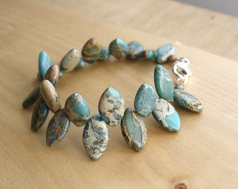 Aqua Terra Jasper Bracelet for Grounding