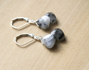 Tourmalinated Quartz Earrings for Protection and Grounding
