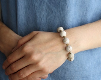 Fossilized Coral Bracelet . Geology Gifts