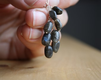Labradorite Earrings in Sterling Silver for Protection and Transformation