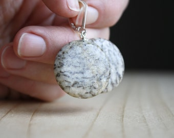 Zebradorite Feldspar Earrings for Accomplishing Goals