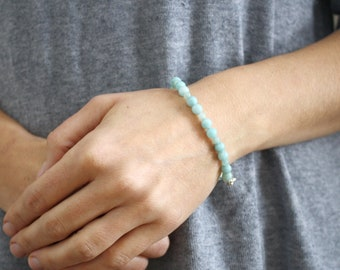 Amazonite Bracelet for Anxiety Relief and Clarity