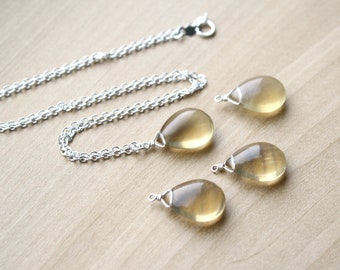 Yellow Fluorite Necklace for Reorganization and Quick Thinking