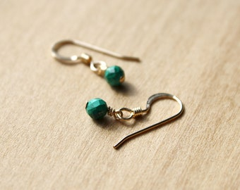 Malachite Earrings for Negative Energy Protection and Transformation