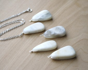 White Moonstone Necklace for Inner Strength and Inspiration