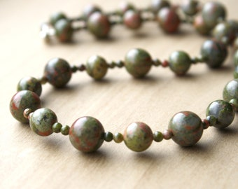 Unakite Necklace for Clear Vision and Dissolving Boundaries