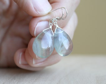Green Fluorite Earrings for Clarity and Focus