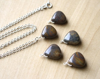 Tiger Iron Jasper Necklace for an Energy Boost and Vitality NEW