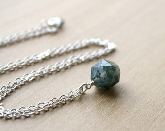 Moss Agate Necklace for Harmony and Abundance
