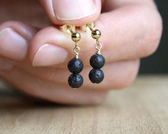 Lava Stone Studs for Connecting with the Earth and Essential Oil Diffusion