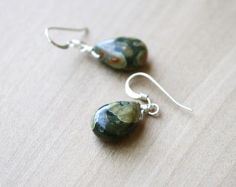 Rhyolite Earrings in Sterling Silver for Peace and Acceptance