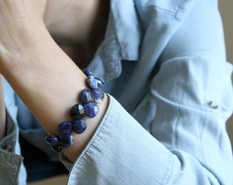 Natural Sodalite Bracelet for Creativity and Intuition