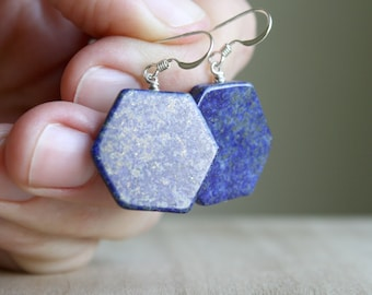 Lapis Lazuli Earrings for Taking Charge of your Life and Revealing Inner Truth