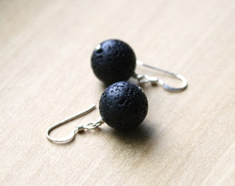 Lava Stone Earrings for Stability and an Strong Connection to the Earth