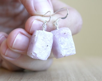 Natural Kunzite Earrings for Unconditional Love and Abundance