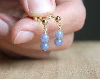 Blue Aventurine Earrings Studs for Stability and Inner Harmony