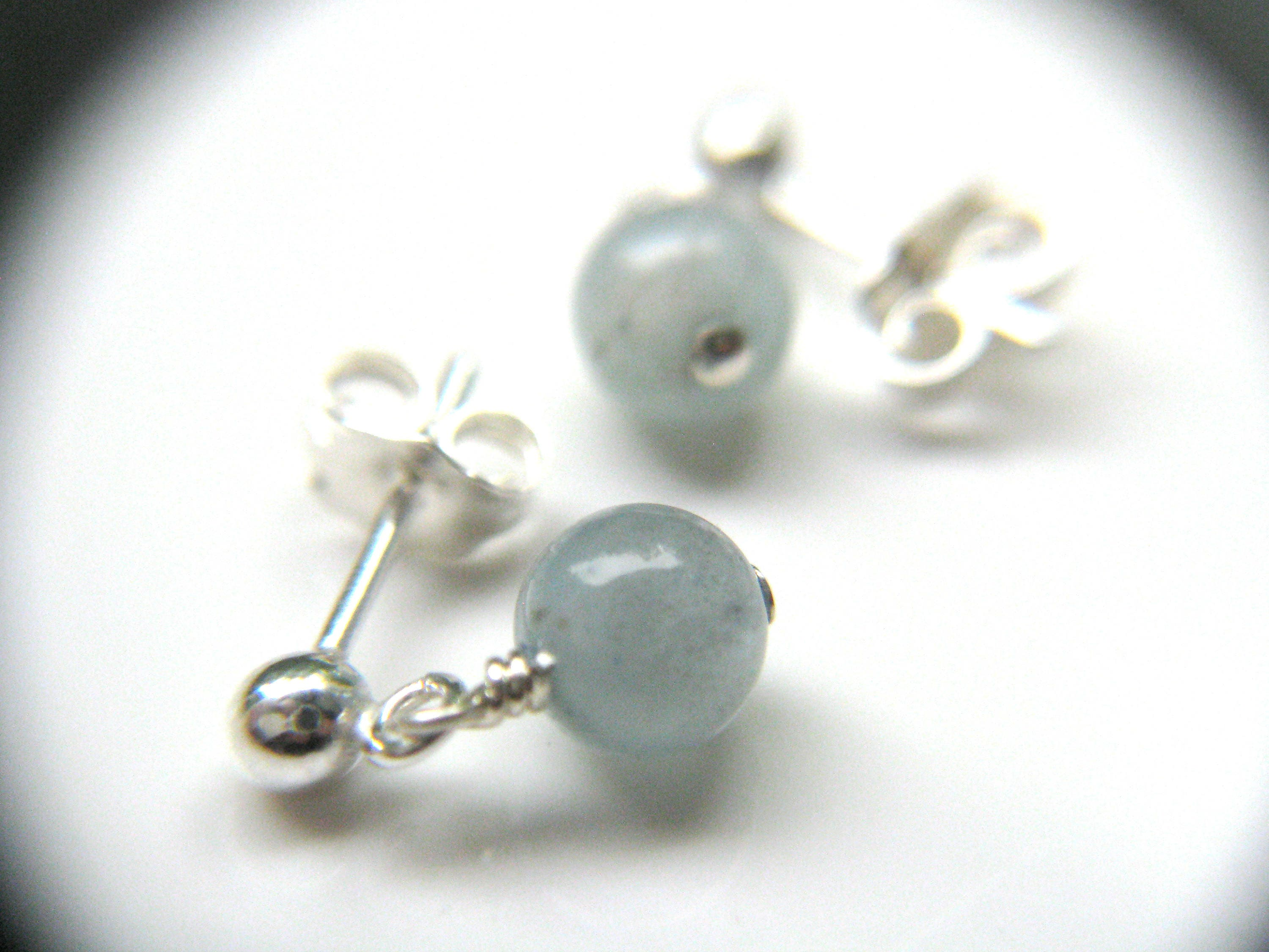 d38572b28 Genuine Aquamarine Stud Earrings . March Birthstone Jewelry