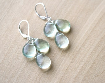 Green Fluorite Earrings for Structure and Mental Clarity