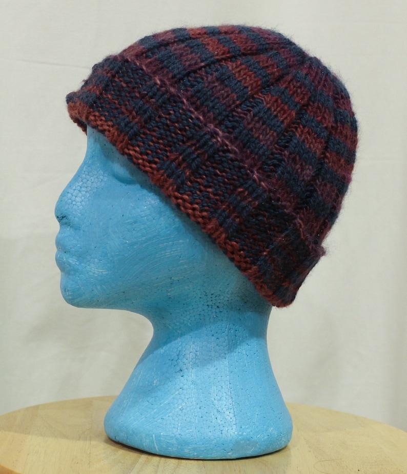 9bcb1f2be81c3 Hand knit adult size fisherman skull cap beanie