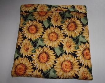 Microwave Potato Bag Large Shaded Yellow Sunflowers Sack Baked Potato Bag Handmade Kitchen Utensil Gadget Cotton