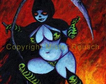 La Super Muerta Comic Book Villain Calavera Signed Art Print by Mister Reusch