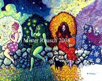 4 Seasons Art Print by Mister Reusch