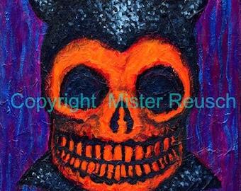 Skeleton Devil 1 Signed Art Print by Mister Reusch