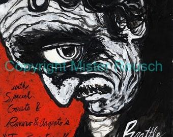 Edgar Allan Poe Original Brattle Theatre 2009 Poster by Mister Reusch