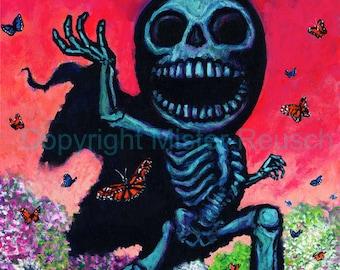 Spring Reaper Seasonal Signed Print by Mister Reusch