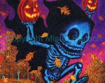 Halloween Autumn Reaper Series Signed Print by Mister Reusch