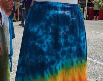 Tie Dye Rainbow hauchdünnen Hallo-lo Zweischicht-Tänzerin Rock