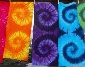 Tie Dyed Fabric in Half Yard Double Swirls